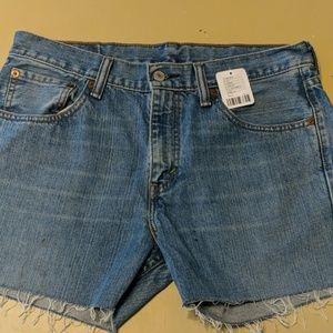 Levi's cut off denim shorts